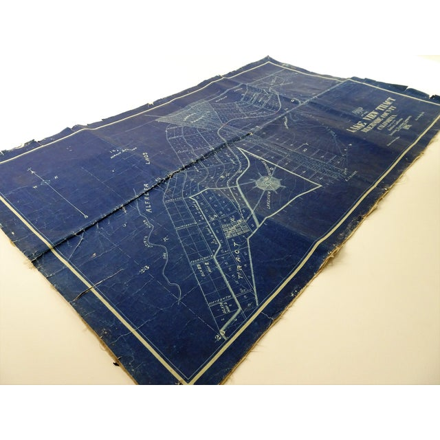 This is a one of a kind, an antique blue map of California. Location is Lakeview Tract, Riverside County California, 1896....