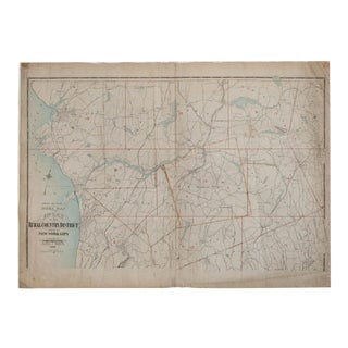 Vintage Map of Northern Westchester, Ny For Sale