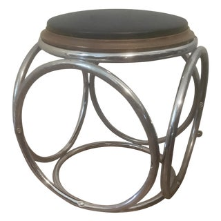 Chrome Thonet Stool or Table For Sale