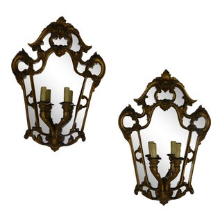 Mirror Back Wall Fixture For Sale