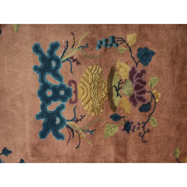 """Antique Chinese Art Deco 8'2"""" X 9'9"""" For Sale - Image 4 of 6"""