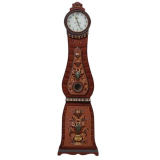 Swedish Wooden Mora Clock For Sale