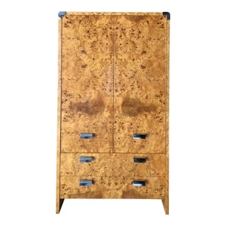 Burled Armoire Chifforobe by Leon Rosen for Pace Collection For Sale