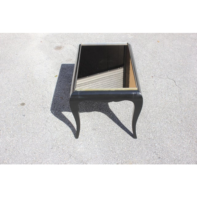 1940s French Art Deco Ebonized Coffee Table For Sale - Image 12 of 13