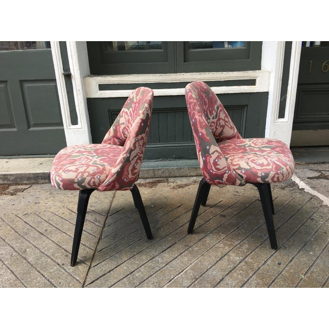 Mid-Century Modern Mid-Century Modern Saarinen for Knoll Chairs - a Pair For Sale - Image 3 of 9