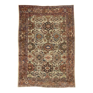 Antique Persian Mahal Rug With American Colonial Style - 08'06 X 12'02 For Sale