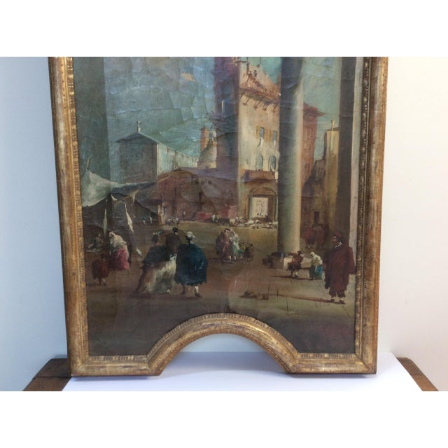 Late 18th Century 18th Century Italian Guardi Style Painting For Sale - Image 5 of 11