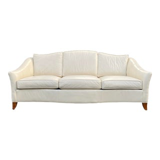 Ethan Allen Leather Sofa For Sale