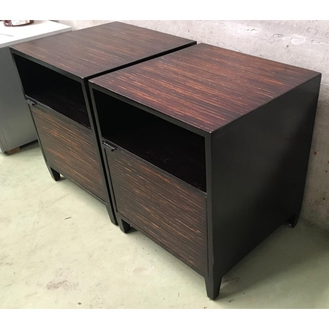 About This very sophisticated nightstands/ End tables feature a shadow box detailing framing the front. It features a...