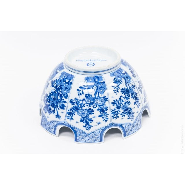 1990s 1990s Vintage Mottahedeh Monteith Blue and White Bowl For Sale - Image 5 of 8