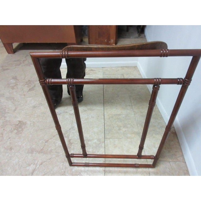 Bombay Company Mahogany Faux Bamboo Wall Mirror For Sale In Philadelphia - Image 6 of 8