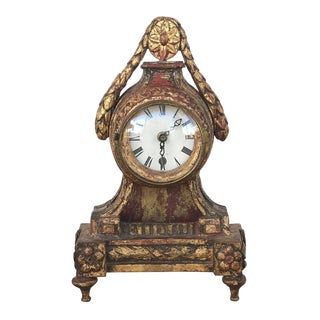18th Century Antique Giltwood Table Clock For Sale