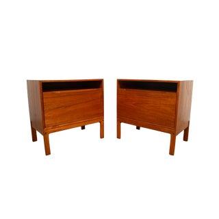 1960s Danish Modern Arne Wahl Iversen for Vinde Mobelfabrik Danish Teak Nightstands - a Pair For Sale