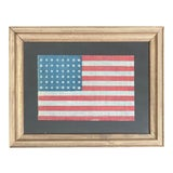 Image of 1930s 48 Star Gauze Parade Flag, Framed For Sale