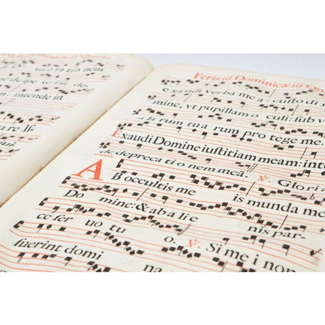 White 17th Century Antique Vellum Book With Music Score Pages With Iron Closures For Sale - Image 8 of 11