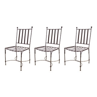 Modern Metal Patio Chairs in Style of Giacometti For Sale