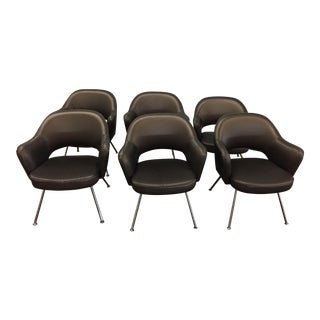 1975 Knoll Saarinen Executive Dining or Office Chairs - Set of 6 For Sale