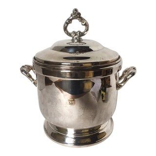 1970s Traditional Silver Plated Ice Bucket For Sale