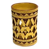 Image of Moroccan Hand Painted Ceramic Tealight Cup Holder For Sale