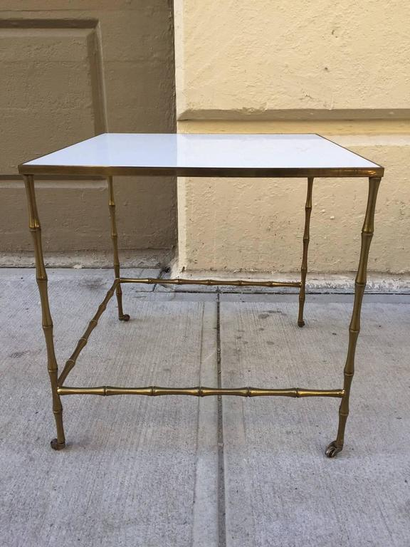 1950s Bronze Nesting Tables By Maison Baguès For Sale   Image 5 Of 7
