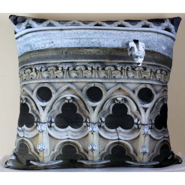 Architecture Notre Dame Exterior Photo Pillow For Sale - Image 12 of 12