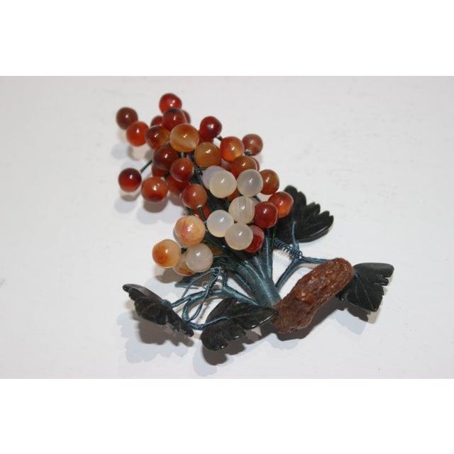 Figurative Vintage Apricot/Amber Quartz Mini Grape Cluster For Sale - Image 3 of 5