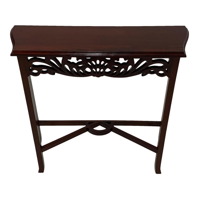 Carved Mahognay Console Table For Sale