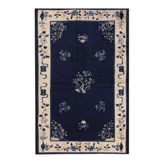 """Antique Chinese Peking Rug 5'0"""" X7'8"""" For Sale"""