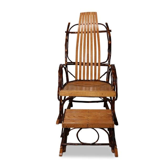 Amish Bentwood Rocker & Footstool Set - Image 6 of 6