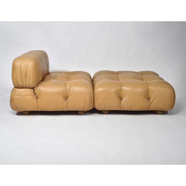 Mario Bellini 'Camaleonda' Chair and Ottoman, 1970s For Sale - Image 12 of 12