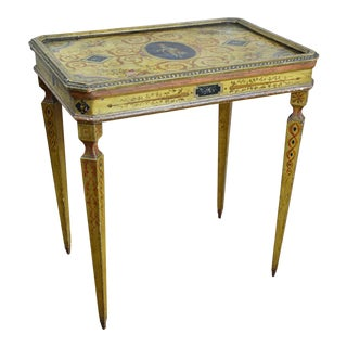 19th Century Italian Painted Neoclassical Style Side Table