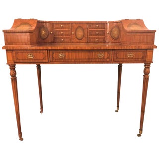 Fine Satinwood Adams Style Carlton House Desk by Maitland-Smith