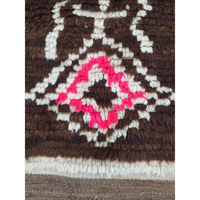 Azilal Moroccan Wool Rug - 4′5″ × 6′1″ - Image 5 of 7