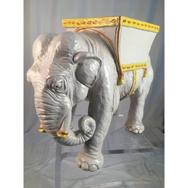 1970's Vintage Italian Elephant For Sale In Charleston - Image 6 of 11
