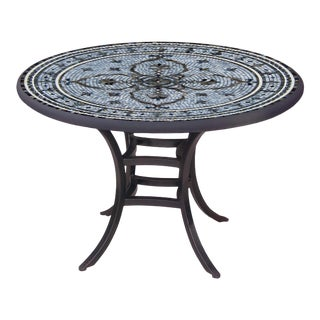 """Roma 60"""" Bistro Table with Black Iron Base For Sale"""