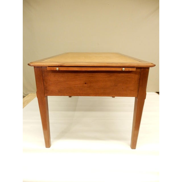 Animal Skin 19th Century French Walnut and Leather Top Desk For Sale - Image 7 of 9