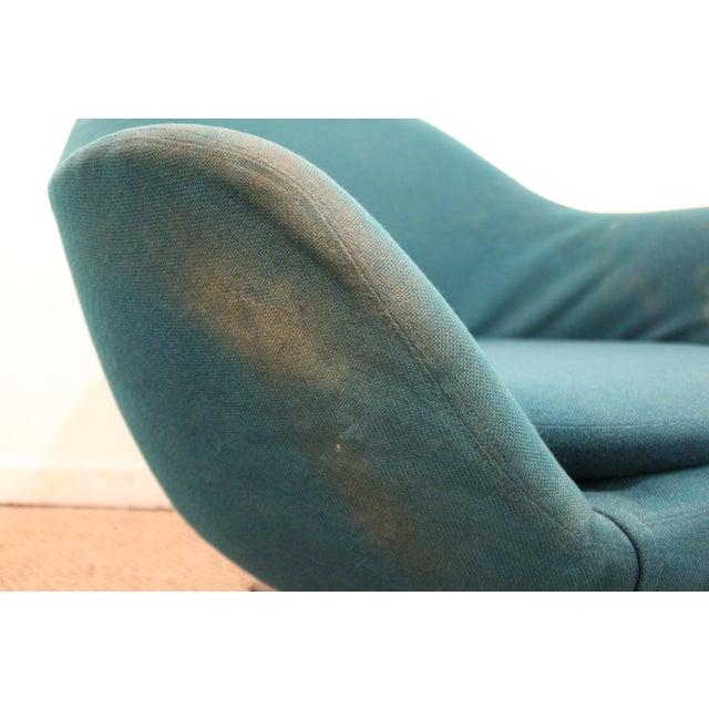 Danish Mid-Century Modern Overman Style Swivel Chrome Base Pod Chair For Sale - Image 11 of 11