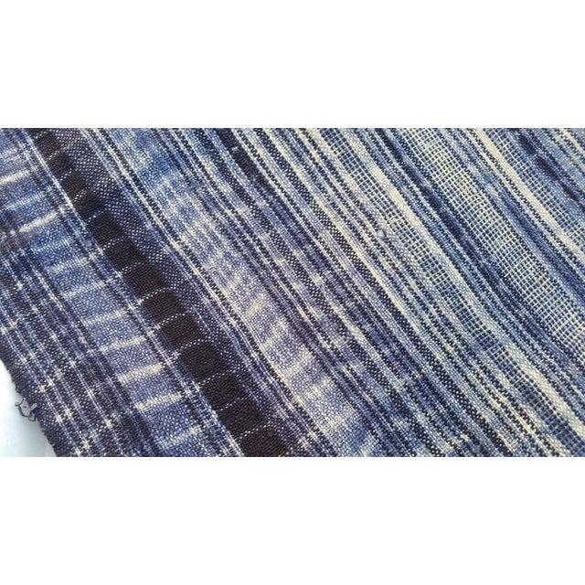 Homespun Tie Dye Indigo Doorway Drapes - A Pair - Image 3 of 5