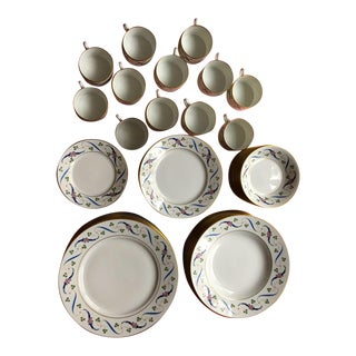 Richard Ginori 1028 Pattern Dinnerware - Set of 72 For Sale