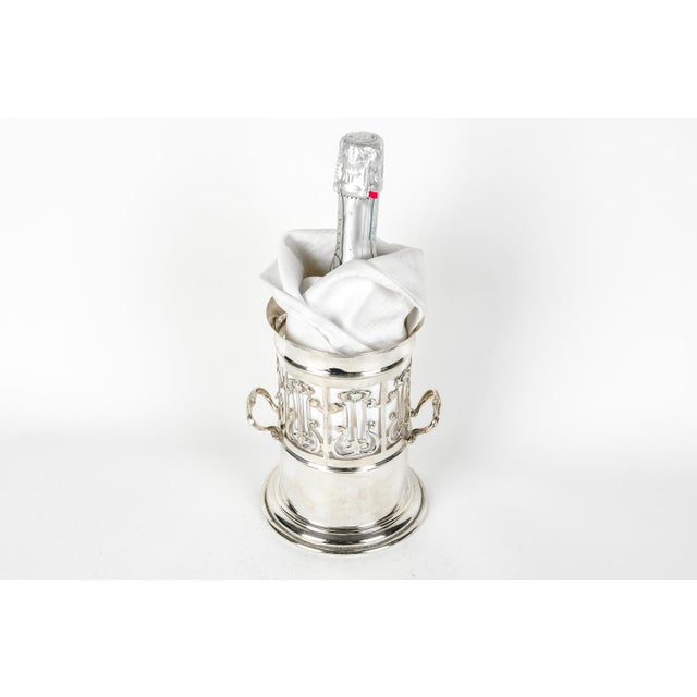 Antique English Plated Wine / Drinks Bottle Holder For Sale In New York - Image 6 of 6