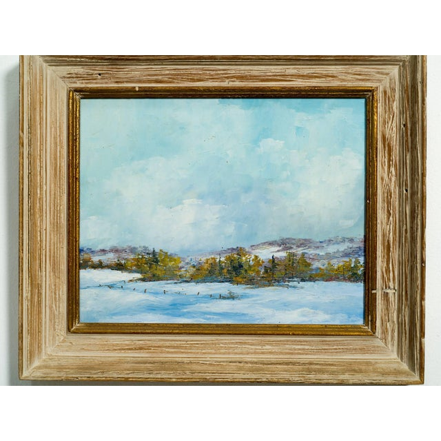 1950s small oil on board of a landscape, bought from Lord and Taylor.