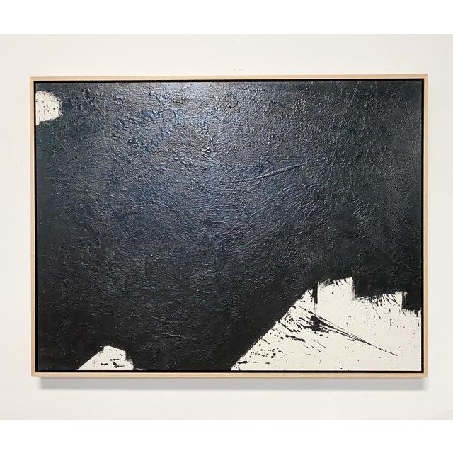 "Black Exclusive John O'Hara ""Tar, 14"" Encaustic Painting For Sale - Image 8 of 8"