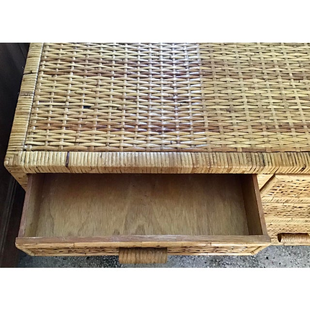 Wood 1960s Boho Chic Bielecky Brothers Writing Desk For Sale - Image 7 of 12