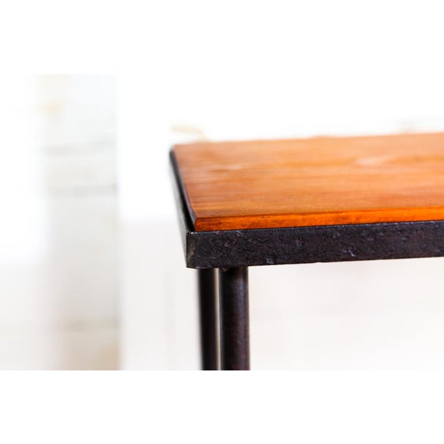 Metal Mid-Century Modern Hand-Bag Entry Table For Sale - Image 7 of 12