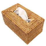 Image of Artifacts Rattan Long Tissue Box For Sale