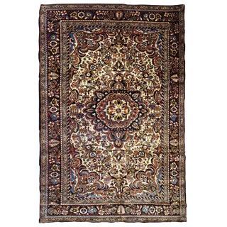 1900s, Handmade Antique Persian Sarouk Rug 3.1' X 5.2' For Sale