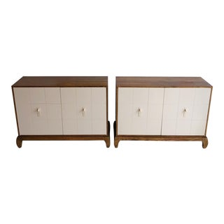Vintage Baker Furniture Company Oak and Lacquer Sideboard Cabinet For Sale