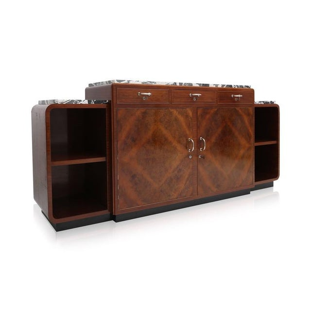 Mahogany Art Deco Credenza Van Beerleire For Sale - Image 7 of 8