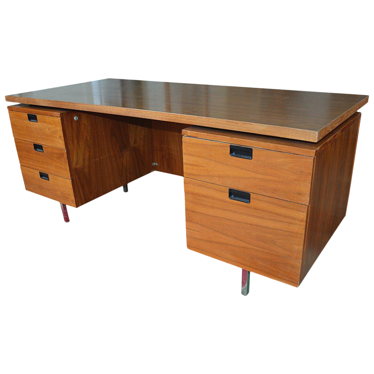 1960s Mid Century Modern George Nelson For Herman Miller Walnut Executive  Desk