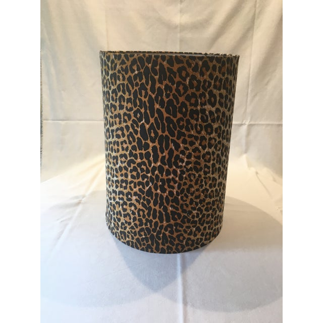 Leopard Fabric Lamp Shade - Image 4 of 7